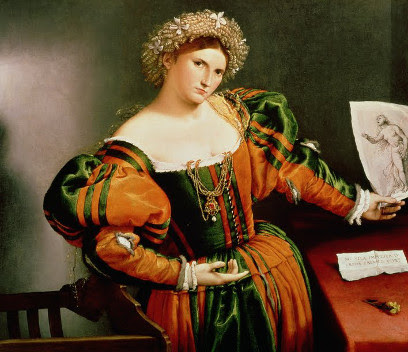 Portrait of a Woman Inspired by Lucretia by Lorenzo Lotto